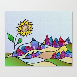 my little village and its sun -1- Canvas Print