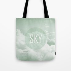 Sky behind the Clouds Tote Bag