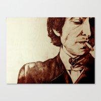 bob dylan Canvas Prints featuring Bob Dylan by Farinaz K.