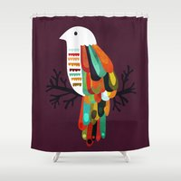 paradise Shower Curtains featuring Paradise by Picomodi