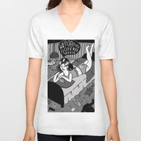 kevin russ V-neck T-shirts featuring Kevin by Holly van Who