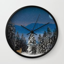 Christmas Forest - Scenic Wall Art Wall Clock