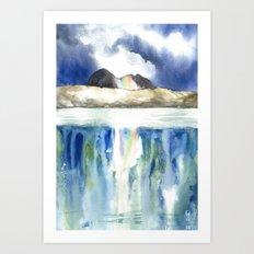 Rainbow Suilven Art Print