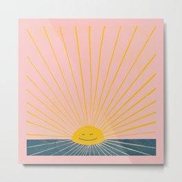 Good Morning Sunshine Cutie Print Metal Print
