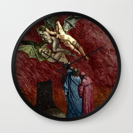 Dante and the Erinyes Wall Clock