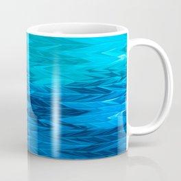 Blue Faded Chevron Coffee Mug