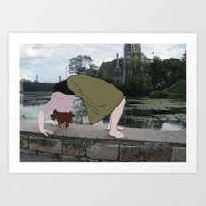 Backbend Art Print