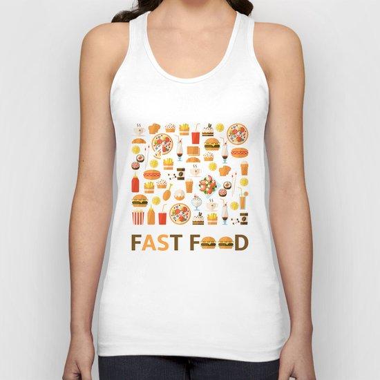 Fast food Unisex Tank Top