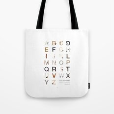 Dog Alphabet Tote Bag