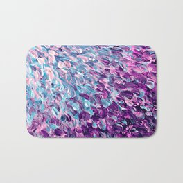 FROSTED FEATHERS 1 Colorful Lavender Purple Lilac Serenity Rose Quartz Ombre Ocean Splash Abstract Bath Mat