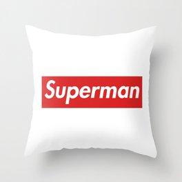 Supr-man Throw Pillow