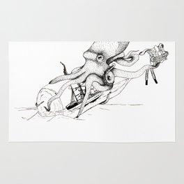 Kraken and the Ship Rug