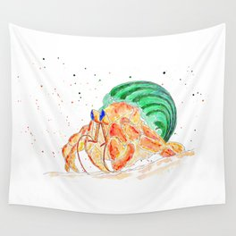 The Exploring Hermit Crab Wall Tapestry