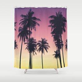 Palmtrees Sunset Shower Curtain
