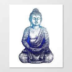 Buddha Blue Canvas Print