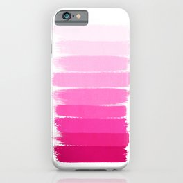 Luca - Ombre Brushstroke, pink girly trend art print and phone case for young trendy girls iPhone Case