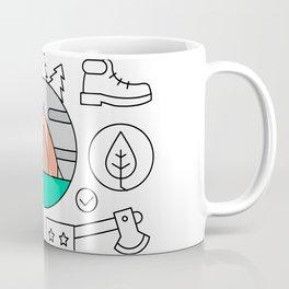Hiking and Camping Supplies Coffee Mug