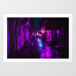 Shadowy Alley Art Print