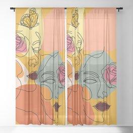Facing You, Facing Me Sheer Curtain
