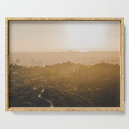 Golden Hour - Los Angeles, California Serving Tray
