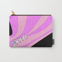 Laced Pink Stripes Carry-All Pouch