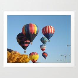 Balloons Arising  Art Print
