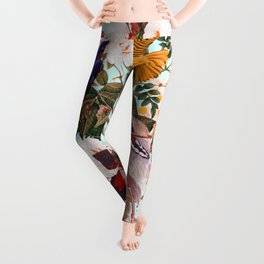 Floral and Birds XXXI Leggings