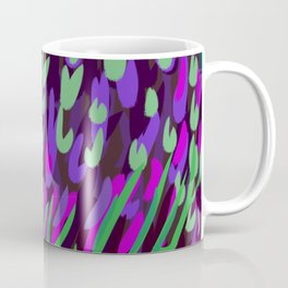 Abstract Starling // Green & Purple Coffee Mug