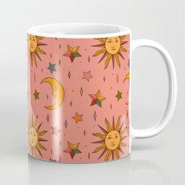 Folk Moon and Star Print Coffee Mug