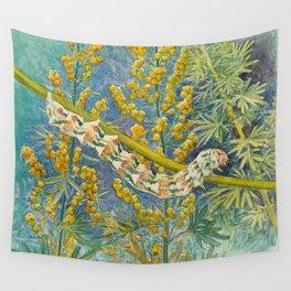 Cucullia Absinthii Caterpillar Wall Tapestry