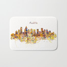 Charlotte Watercolor Skyline Bath Mat