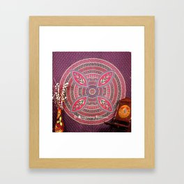 Purple Mandala Dorm Tapestry Wall Hangings Bedding Framed Art Print