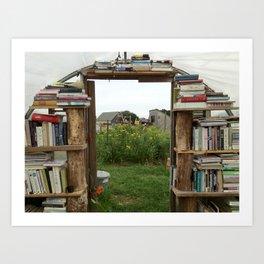 Farm Library Art Print