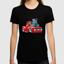 American Classic Hotrod Pickup Truck Cartoon T-shirt