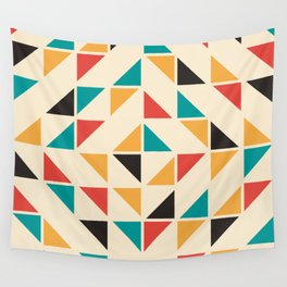 Triangles Mid Century Pattern Wall Tapestry