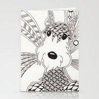 schnauzer Stationery Cards featuring Schnauzer by Noreen Loke