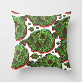 Plant skull  Throw Pillow