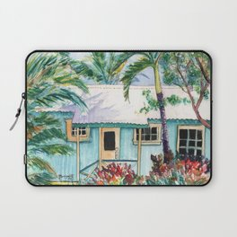 Tropical Vacation Cottage Laptop Sleeve