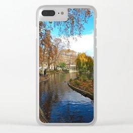 Parc Monceau in Autumn Clear iPhone Case