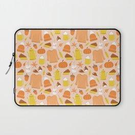 Cozy fall illustration, peach pink Laptop Sleeve
