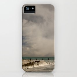 Lake Michigan in winter iPhone Case