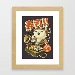 Cat Sushi Framed Art Print