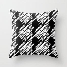 Black & White Scribble Pattern Throw Pillow