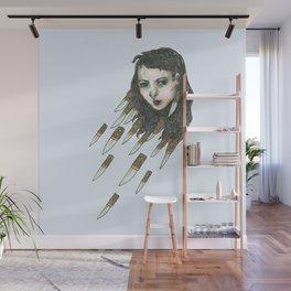 hair is knives Wall Mural