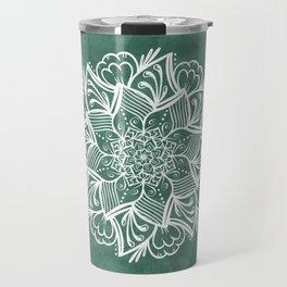 Mandala Pine Forest Green Travel Mug
