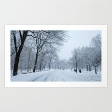 Snow in Central Park VII Art Print