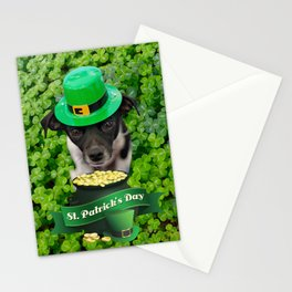 St. Patricks Day Dog Stationery Cards