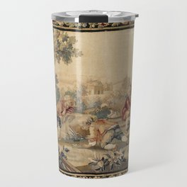 Aubusson  Antique French Tapestry Print Travel Mug