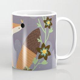 Fox and flowers Coffee Mug