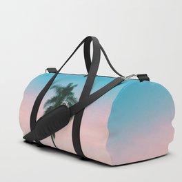 Pastel Sky Palm Tree - Los Angeles, California Duffle Bag